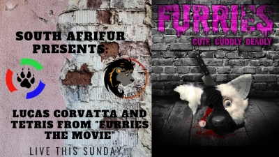"This Sunday (08/09/2019) South Afrifur Presents: Lucas Corvatta and Tetris from ""Furries the Movie"""