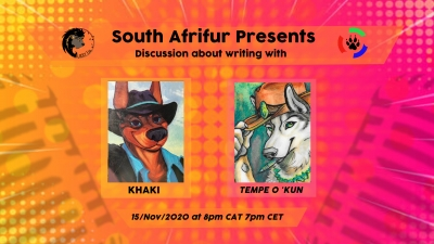 This Sunday: South Afrifur Talks Writing! With Khaki and Tempe O 'Kun